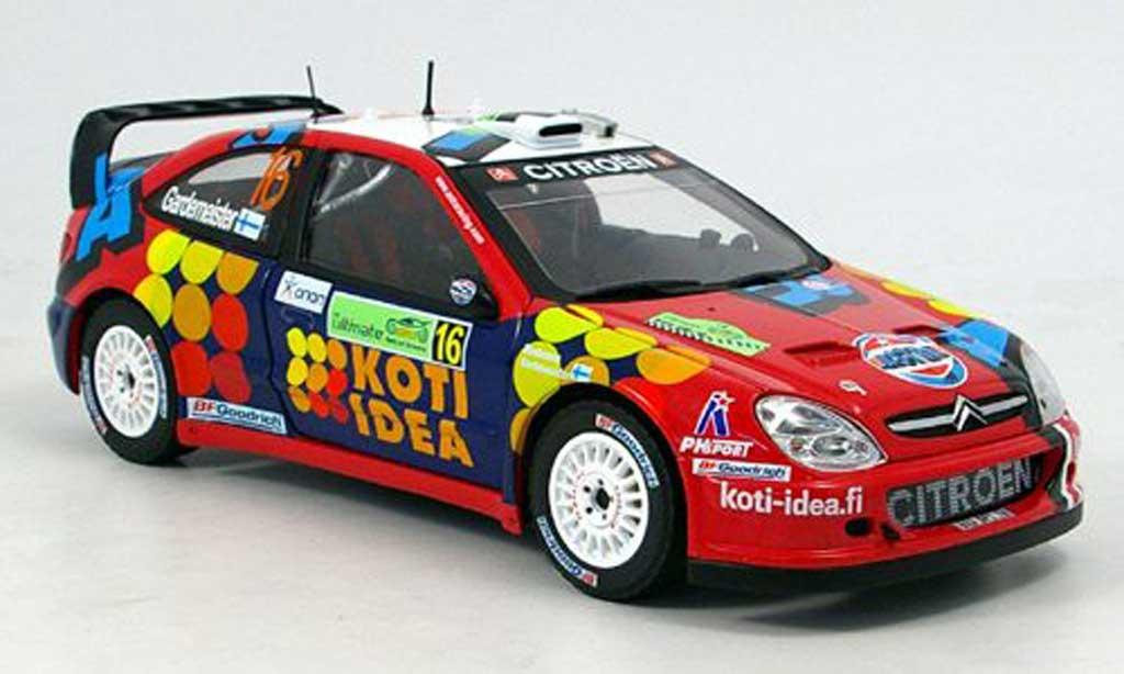 Citroen Xsara WRC 2006 1/18 Sun Star no.16 gardemeister miniature