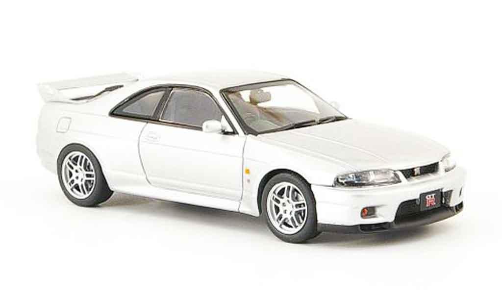 Nissan Skyline R33 1/43 Ebbro GT R V Spec gray metallisee 1995 diecast