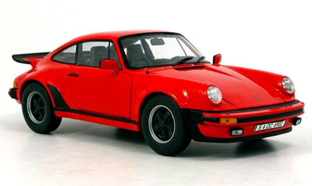 Porsche 930 Turbo 1/18 Norev 3l rouge 1975 miniature