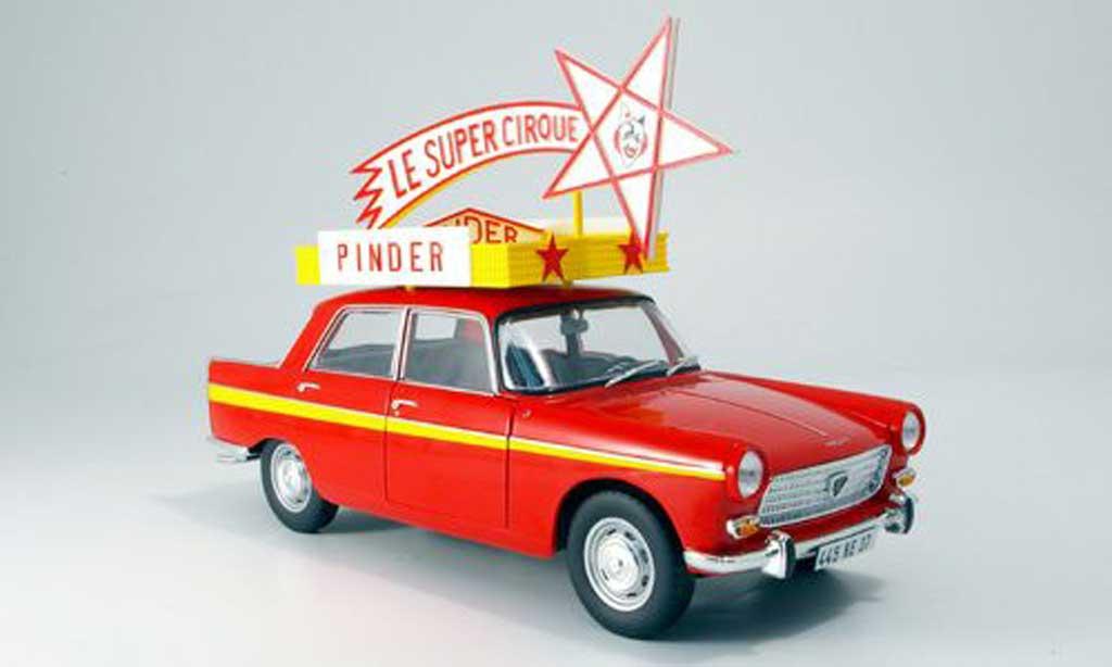Peugeot 404 Berline 1/18 Norev Zirkus Pinder 1966 miniature