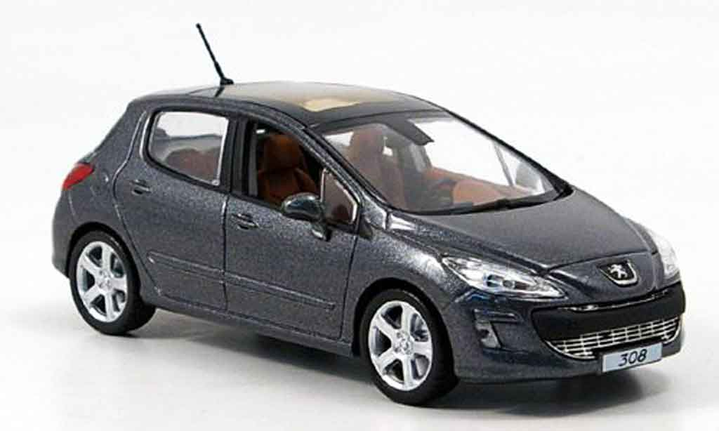peugeot 308 feline 5 portes gray 2007 norev diecast model car 1 43 buy sell diecast car on. Black Bedroom Furniture Sets. Home Design Ideas