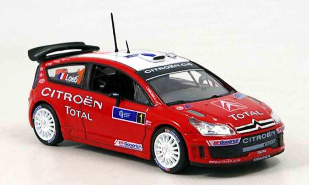 Citroen C4 WRC 2007 1/43 Norev tour de course loeb elena miniature