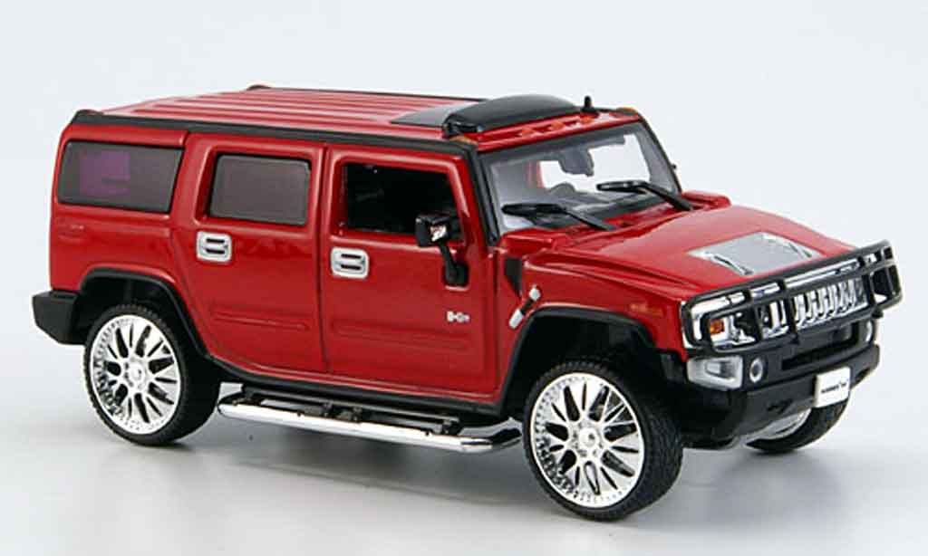 Hummer H2 1/43 Norev SUV rouge Tuning 2005 miniature