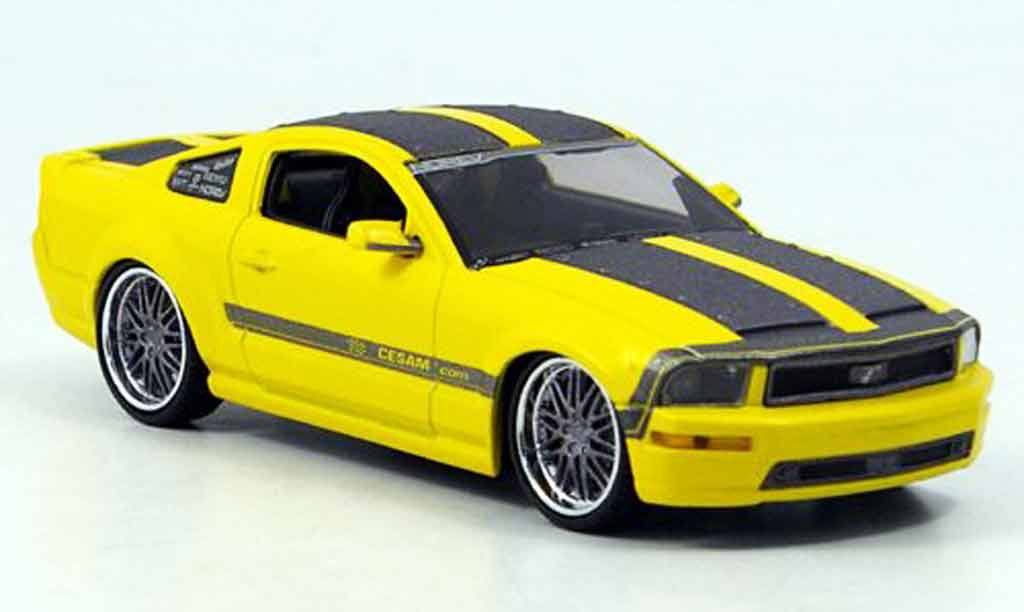 Ford Mustang 2007 1/43 Norev jaune grise Cesam by Parougeech 2007 miniature