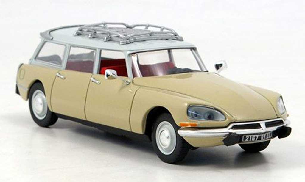 Citroen DS 23 1/43 Norev Break beige/blanche 1974 miniature