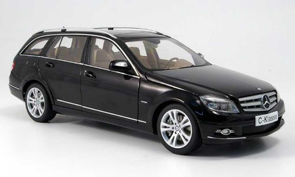 mercedes classe c miniature break t modell noire avantgarde autoart 1 18 voiture. Black Bedroom Furniture Sets. Home Design Ideas