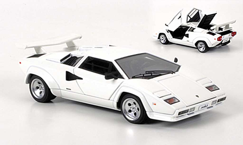 lamborghini countach 5000 s white autoart diecast model car 1 43 buy sell diecast car on. Black Bedroom Furniture Sets. Home Design Ideas