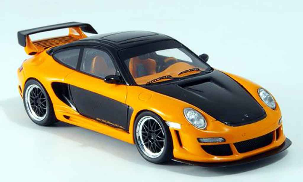 Gemballa GTR 650 1/43 Spark noire orange 2007 miniature