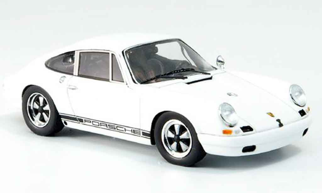 Porsche 911 1/43 Spark R white 1967 diecast model cars