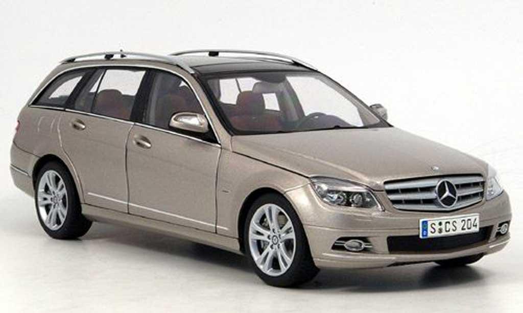 mercedes classe c miniature avantgarde t modell grise autoart 1 18 voiture. Black Bedroom Furniture Sets. Home Design Ideas