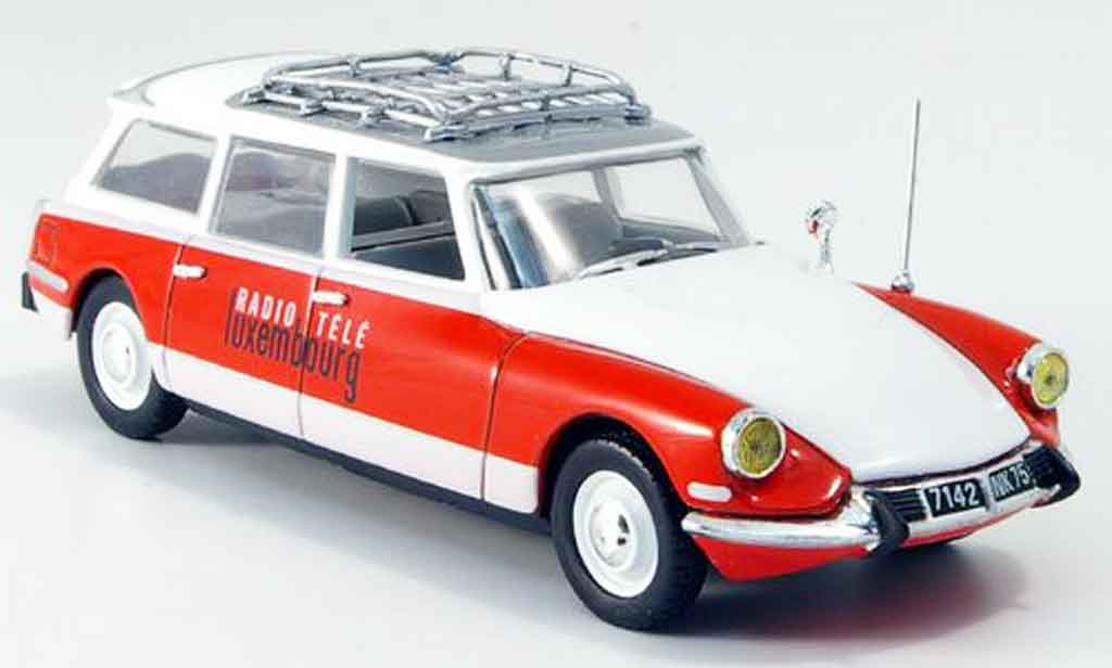 Citroen ID 19 1/43 Norev break rtl red white 1963 diecast model cars