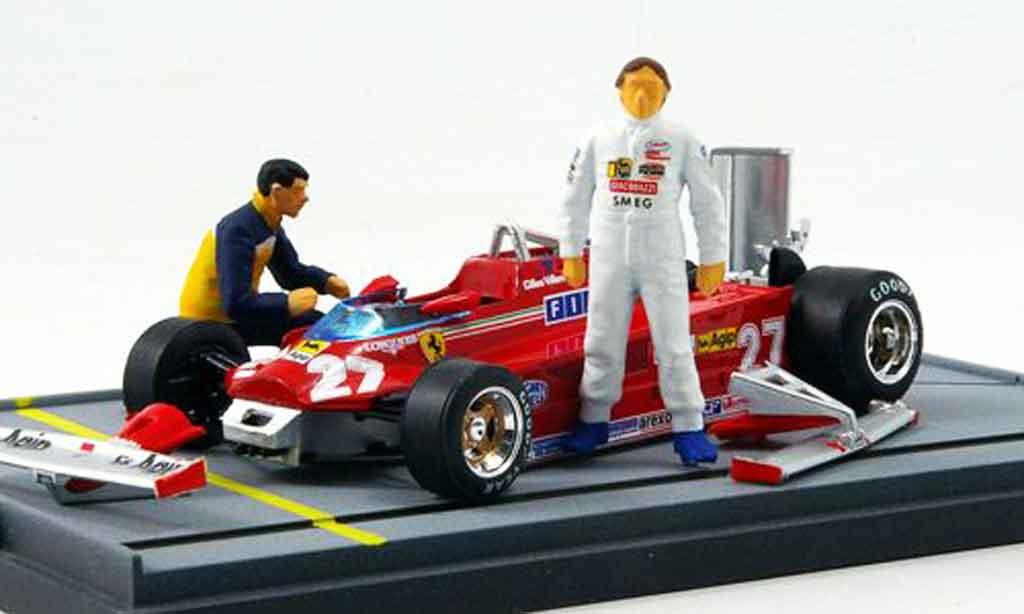Ferrari 126 1981 1/43 Brumm CK turbo villeneuve flughafen istrana miniatura