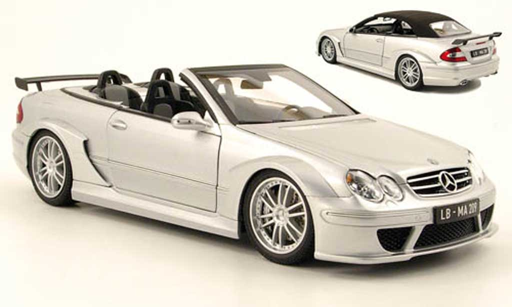 Mercedes Classe CLK DTM 1/18 Kyosho amg cabrio grise metallisee miniature