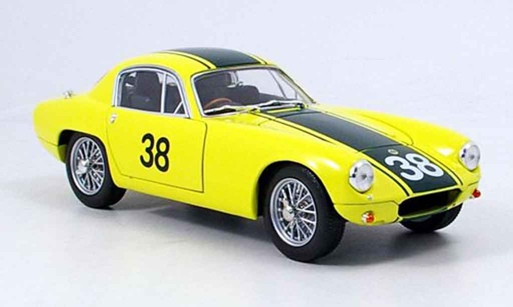 Lotus Elite 1/18 Yat Ming race version no.378 gelb 1960 modellautos