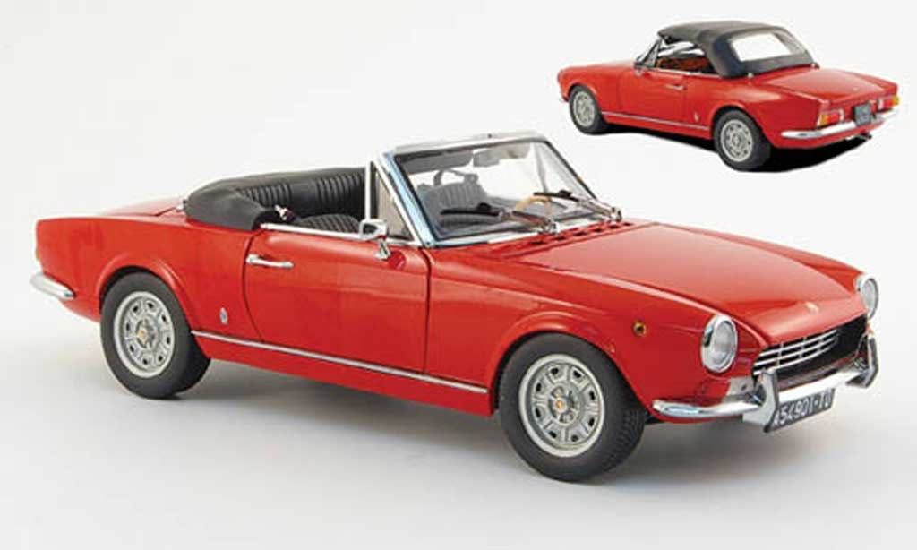 Fiat 124 Spider 1/18 Sun Star (as1) rouge miniature