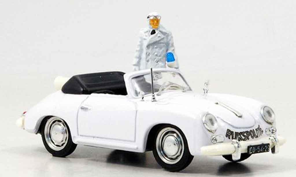 Porsche 356 1952 1/43 Brumm  police Niederlande avec Figur miniature