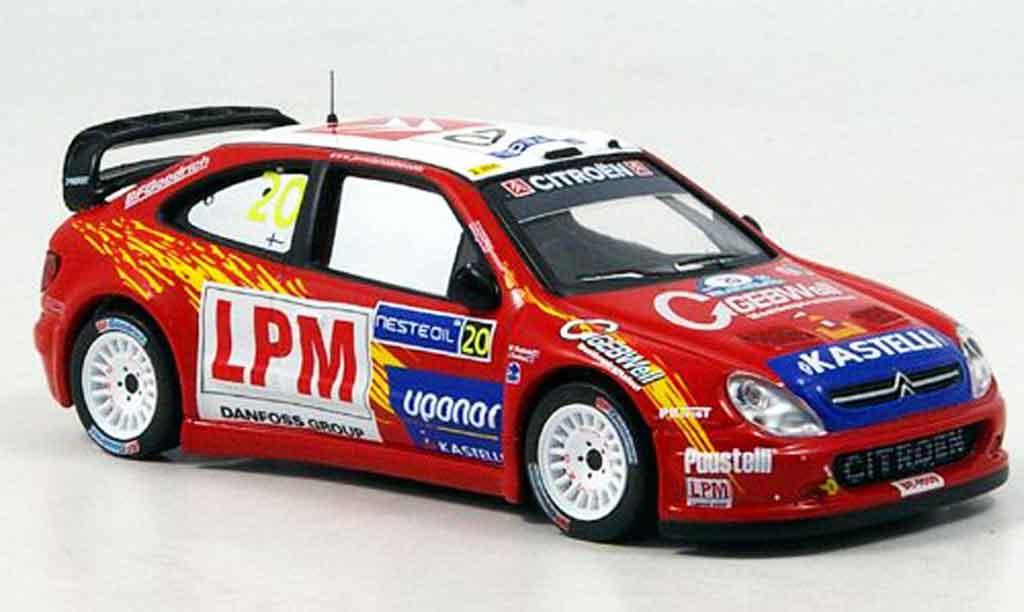Citroen Xsara WRC 2006 1/43 IXO no.20 tuohino rallye finnland miniature