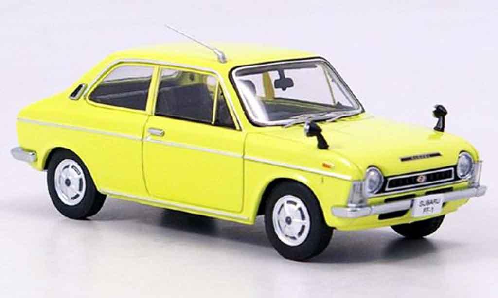 Subaru FF 1/43 Ebbro 1 1100 sports jaune 1969 miniature