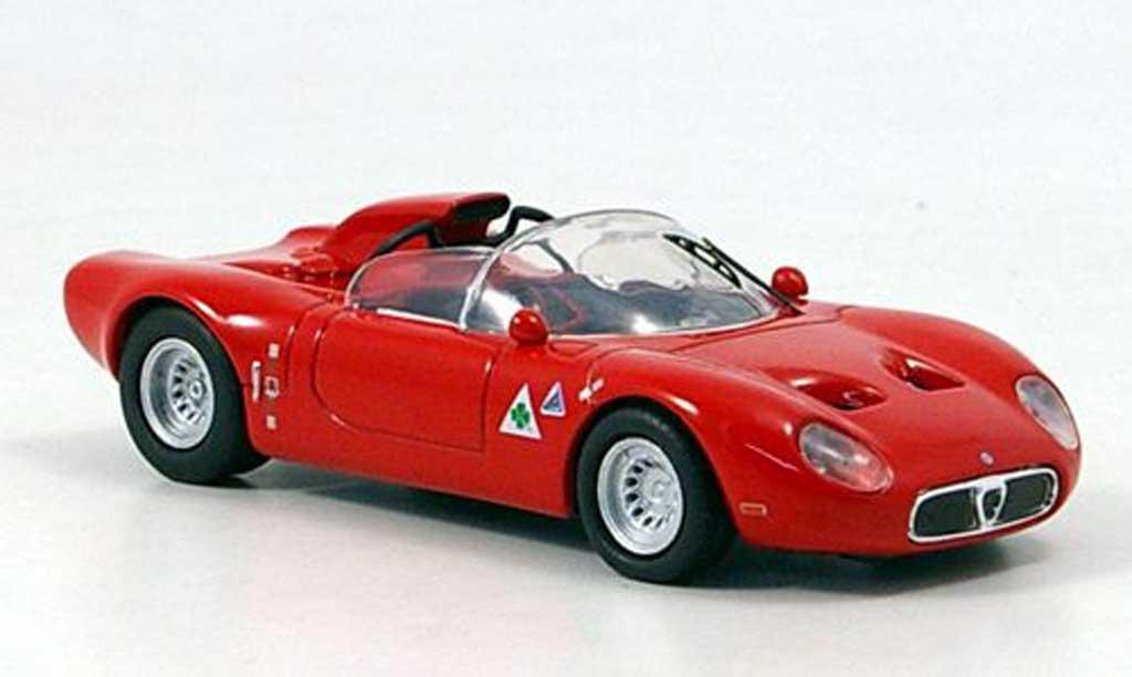 Alfa Romeo 33.2 1967 1/43 M4 Prova Fleron rouge miniature