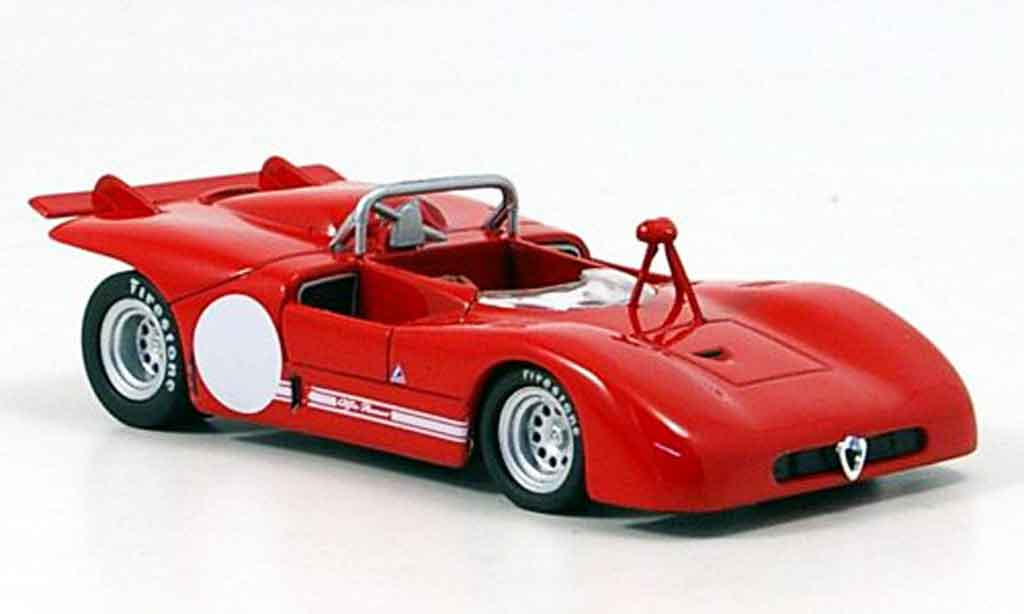 Alfa Romeo 33.3 1971 1/43 M4 prova rouge miniature