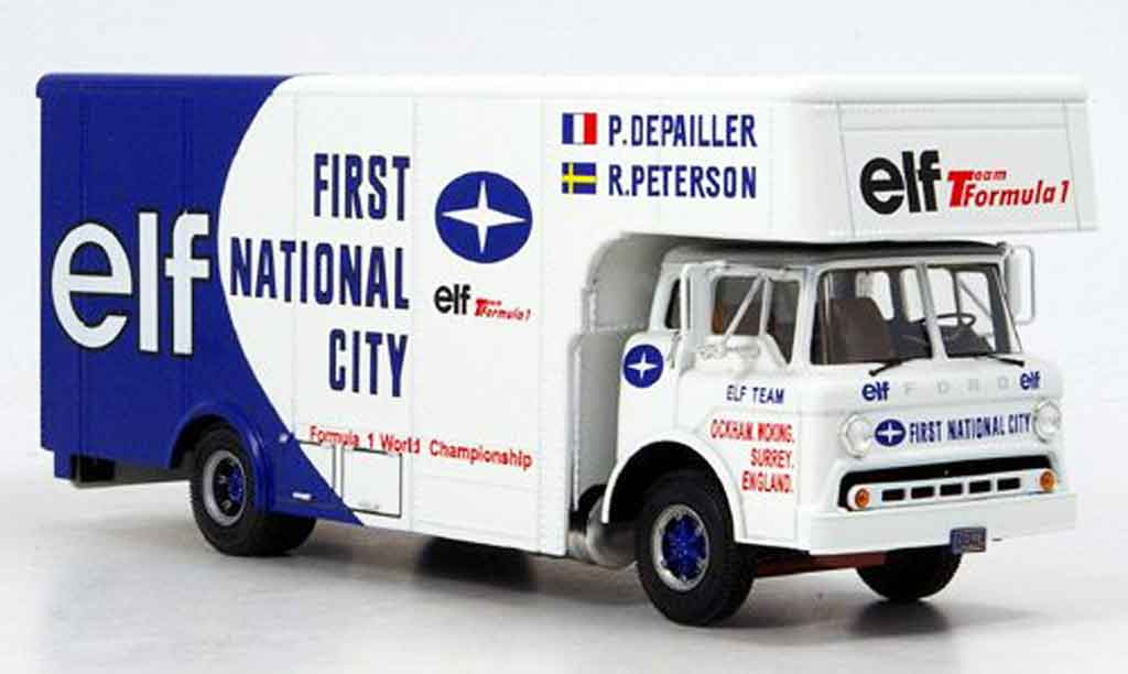 Ford Type C Team Elf 1/43 Exoto Team Elf Transporter Formule 1 miniature