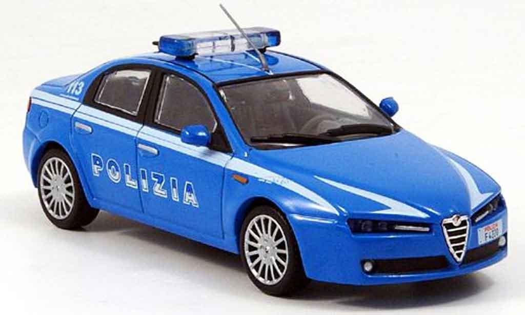 Alfa Romeo 159 1/43 Edison police 2006 miniature