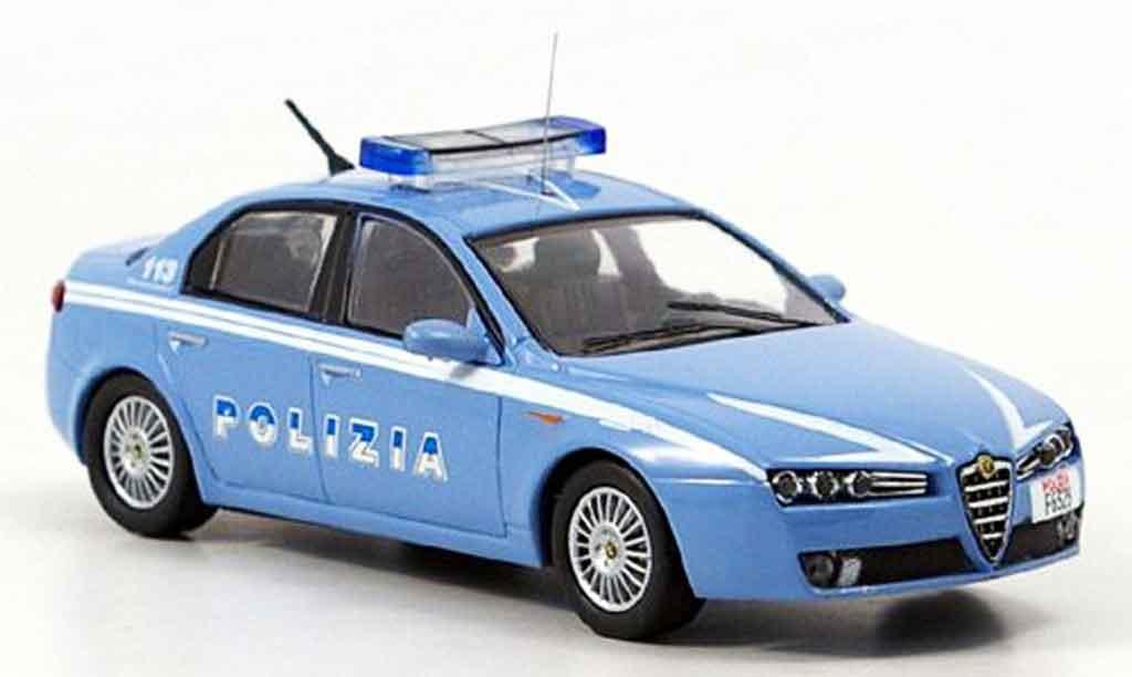 Alfa Romeo 159 1/43 M4 police 2007 miniature