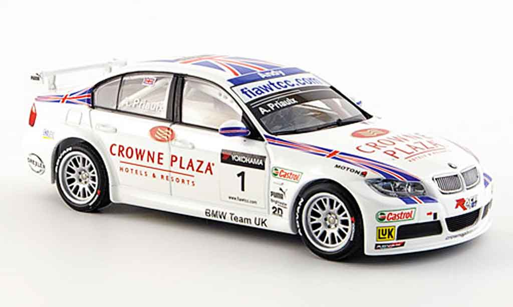 Bmw 320 WTCC 1/43 Minichamps Priaulx Team UK 2007 miniature