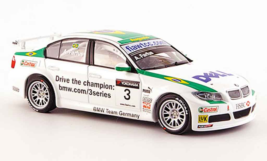 Bmw 320 WTCC 1/43 Minichamps Farfus Team Germany 2007 miniature