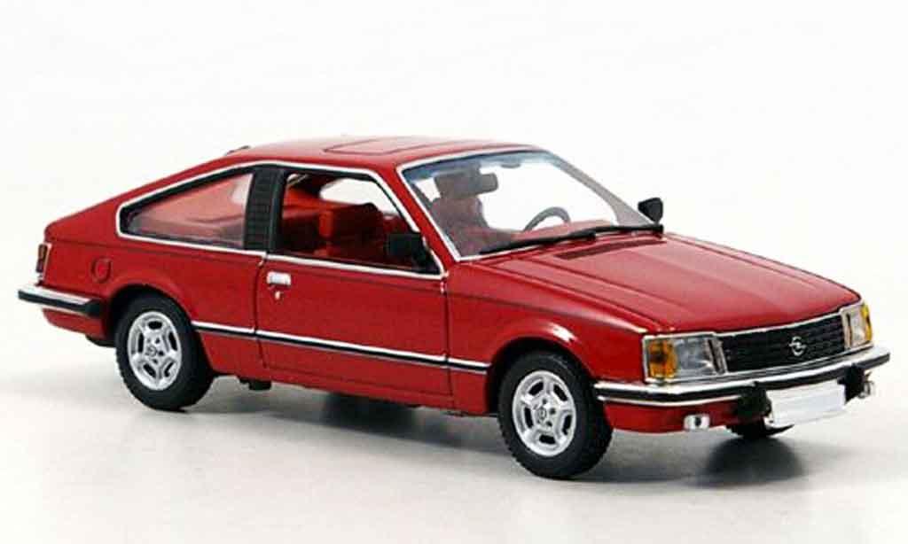 Opel Monza Red 1980 Minichamps Diecast Model Car 1 43