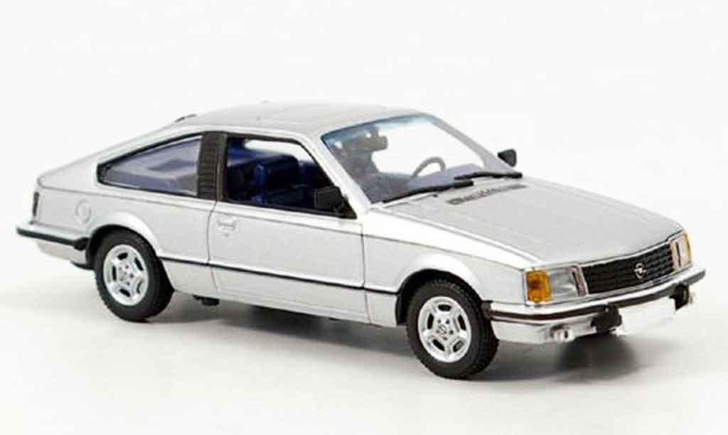 Opel Monza 1/43 Minichamps grise metallisee 1980 miniature