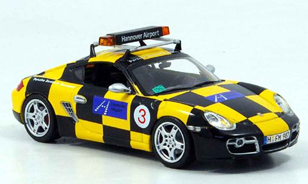 Porsche Cayman S 1/43 Minichamps Follow Me Hannover Airport miniature