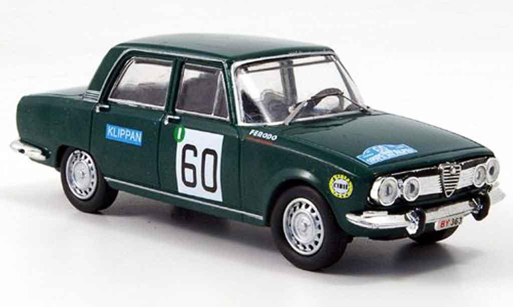 Alfa Romeo 1750 GTV 1/43 M4 no.60 bianchi jacquemin rallye alpen 1968 miniature