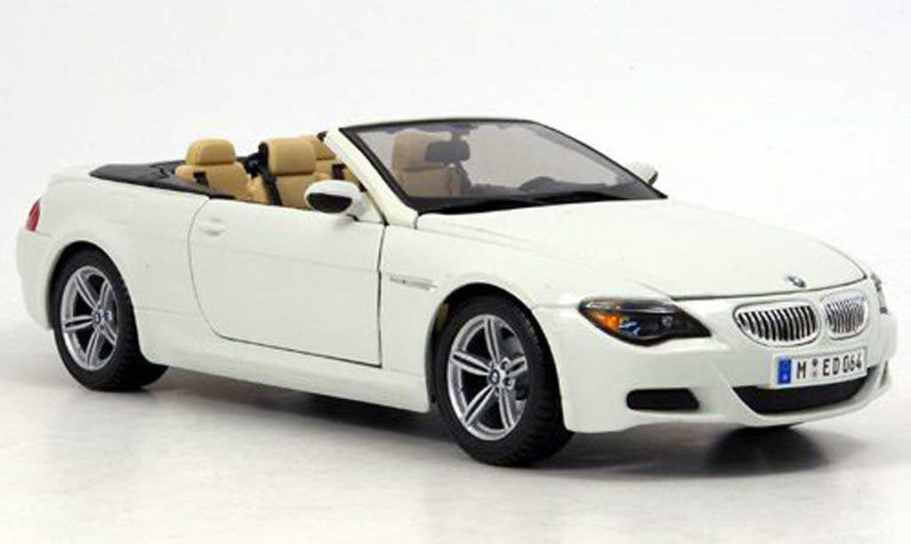 bmw m6 e64 miniature blanche maisto 1 18 voiture. Black Bedroom Furniture Sets. Home Design Ideas