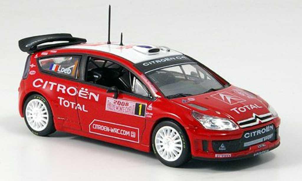 Citroen C4 WRC 2008 1/43 Norev Rally Monte Carlo miniature