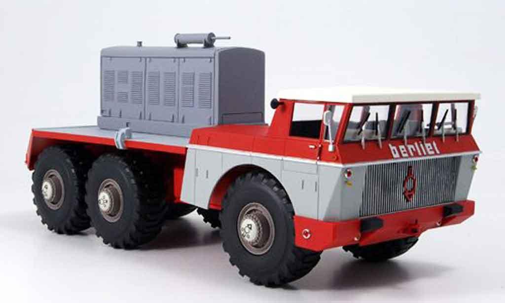 Berliet T100 No.4 rouge grise 1959 Norev. Berliet T100 No.4 rouge grise 1959 miniature 1%2F43