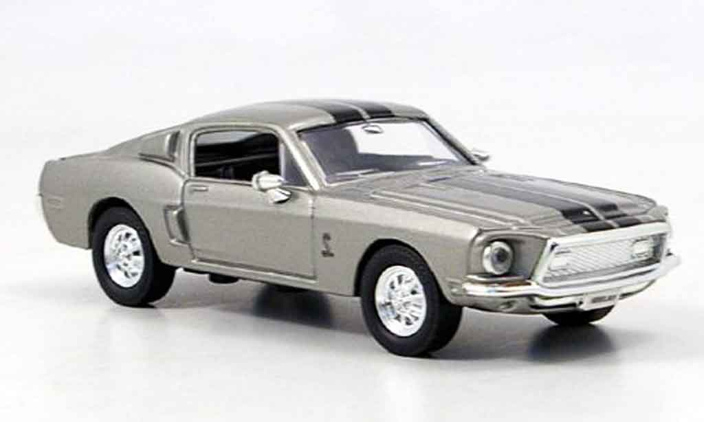 Shelby GT 500 1/43 Yat Ming KR grise noire miniature