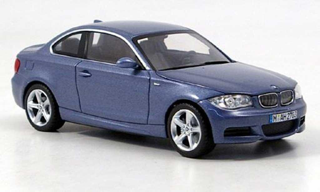 Bmw 125 E82 1/43 Minichamps i Coupe bleu miniature