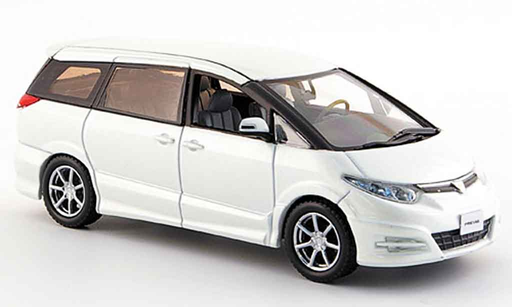 Toyota Estima 1/43 J Collection previa gl blanche 2006 miniature