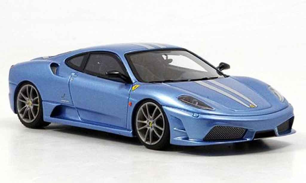 Ferrari F430 Scuderia 1/43 Look Smart bleu avec griseen streifen miniature