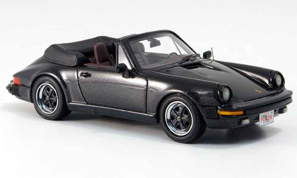 Porsche 930 1/43 Neo Carrera Cabrio noire US Version 1985 miniature