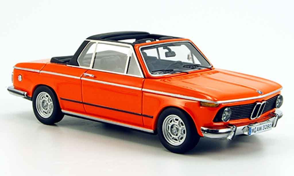 Bmw 2002 Tii 1/43 Neo (E 10) Baur Cabrio orange 1974 miniature