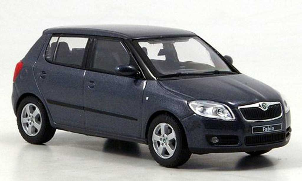 skoda fabia ii miniature anthrazit 2007 abrex 1 43 voiture. Black Bedroom Furniture Sets. Home Design Ideas