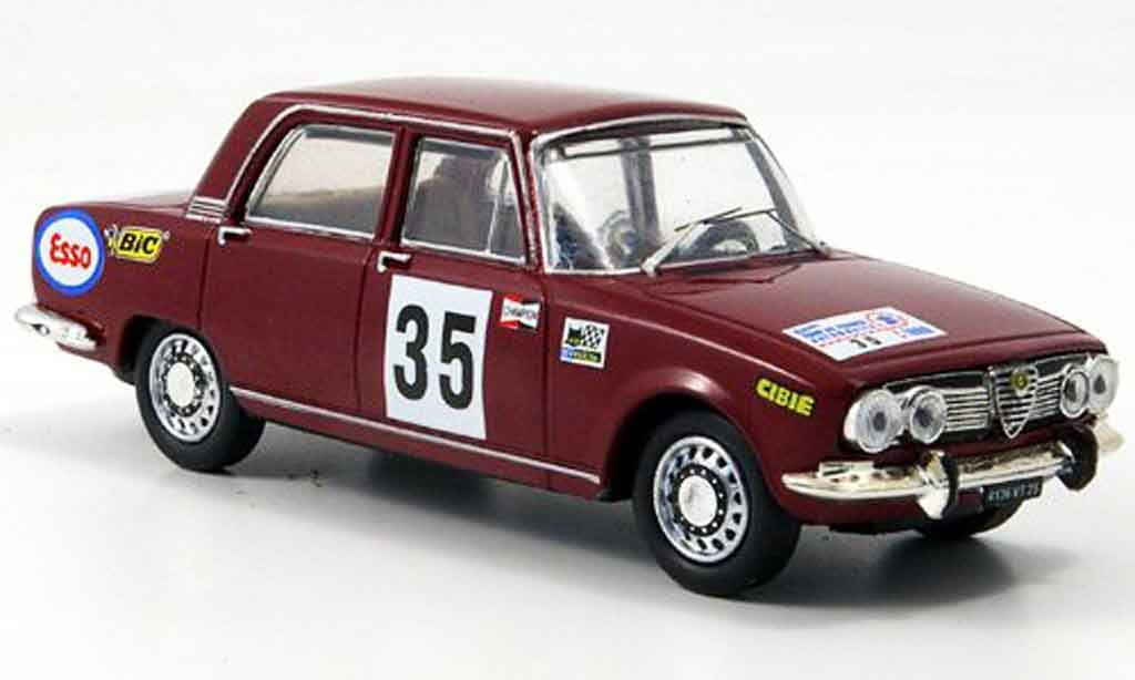 Alfa Romeo 1750 1/43 M4 berline no.35 tour de france 1969 miniature