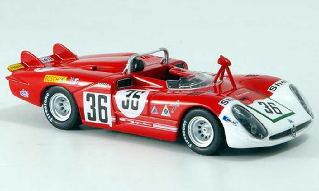 Alfa Romeo 33.3 1970 1/43 M4 No.36 Courage/De Adamich 24h Le Mans miniature