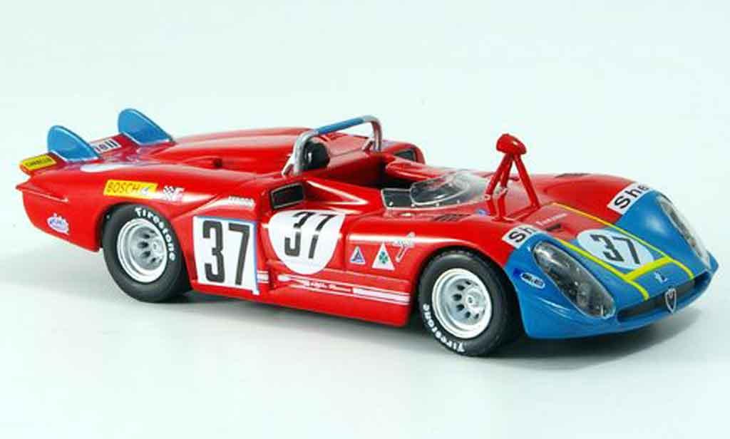Alfa Romeo 33.3 1970 1/43 M4 no.37 hezemans gregory 24h le mans miniature
