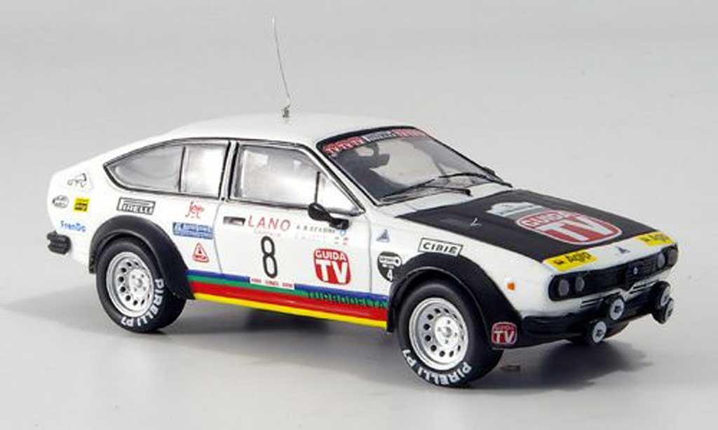 Alfa Romeo GT 2.0 1/43 M4 V Alfetta 2000 turbodelta No.8 Rally Zypern 1980 miniature