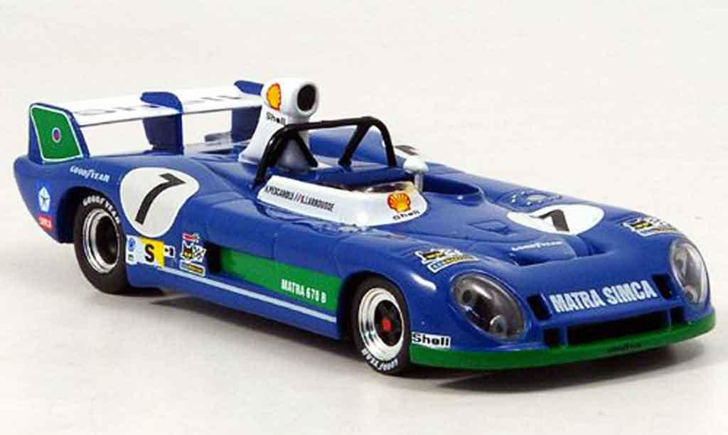 Matra MS670B 1/43 IXO No.7 Sieger Le Mans Pescarolo Larrousse 1974 miniature