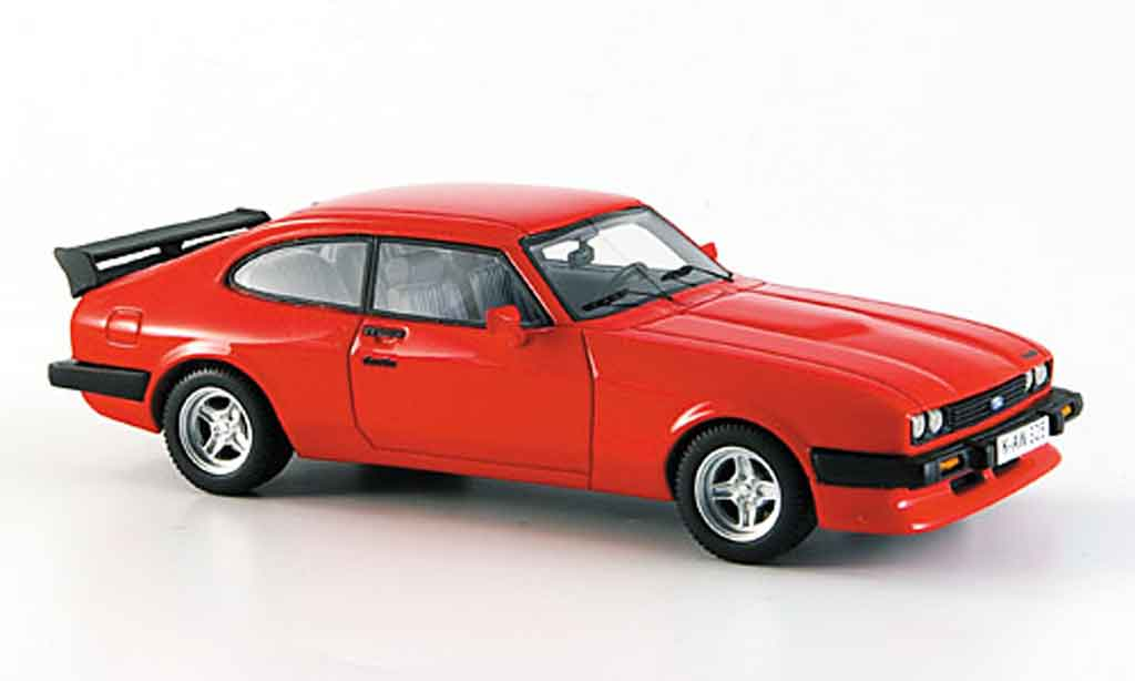 Ford Capri 1/43 Neo MK III Turbo rouge miniature