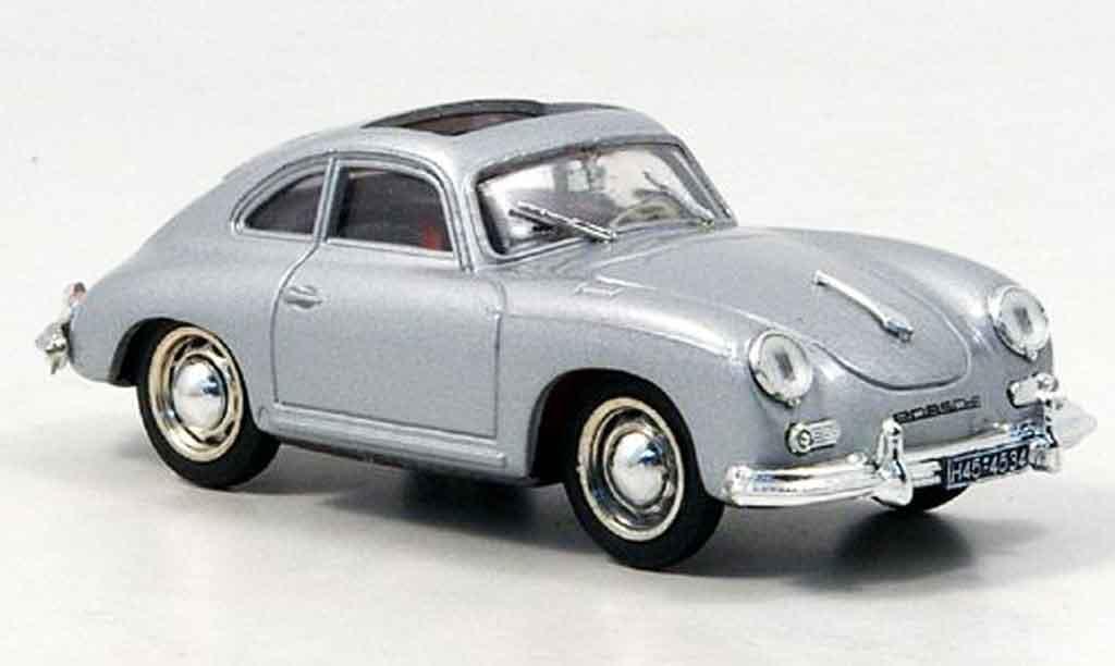 Porsche 356 1952 1/43 Brumm Coupe grise metallisee geoffnetes Schiebedach miniature